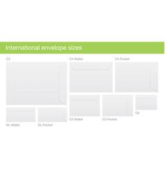 set of international envelope sizes vector image