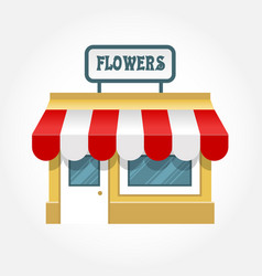 Small shop icon - little store facade vector
