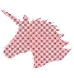 Simple unicorn in nordic cross stitch vector