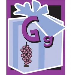flash card g vector image