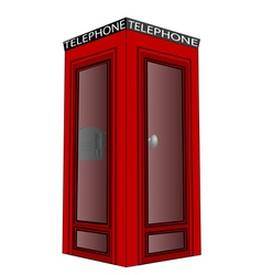 telephone box vector image
