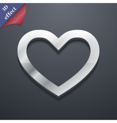 Medical heart icon symbol 3d style trendy modern vector