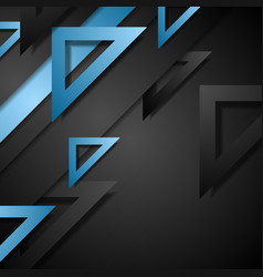 Dark corporate geometric background vector