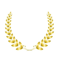 Golgen laurel wreath vector image