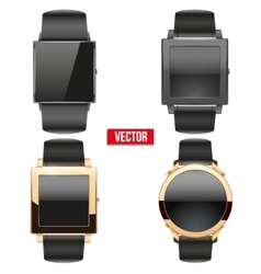 Set of original smart design example wrist watch vector