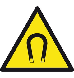 Magnetic safety sign vector