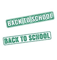 Two textured stamps Back to School vector image