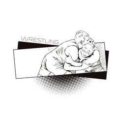 Summer kinds of sports wrestling vector