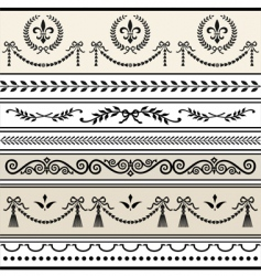 Antique scroll borders vector