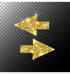 arrows cursorGold glitter icon web sparkles vector image