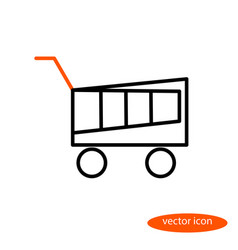 a simple linear image of a shopping basket vector image vector image