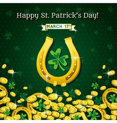 Background for st patricks day with horseshoe vector