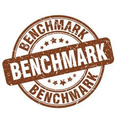 benchmark brown grunge stamp vector image