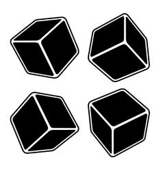 Black Blank Box Set vector image vector image