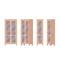 Bookcase in brown vector