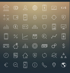busines and finance icon set vector image