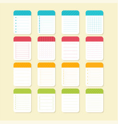Collection of various note papers template vector
