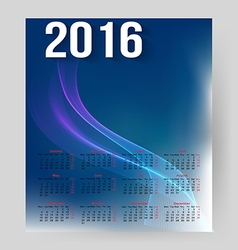 Corporate calendar for 2016 vector