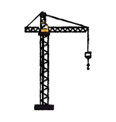 crane hook construction machine drawing vector image