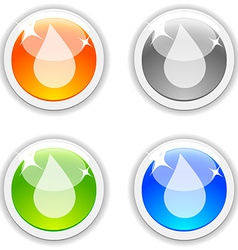 Drop buttons vector image vector image