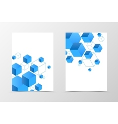 Geometric flyer template design vector image vector image