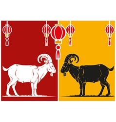 Goat vector image