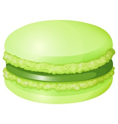 Green macaron with cream vector