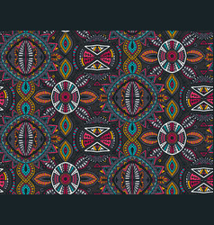 Hand drawn seamless pattern with tribal vector