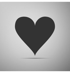 Heart icon on grey background adobe vector
