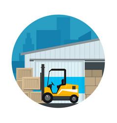 Icon warehouse services vector