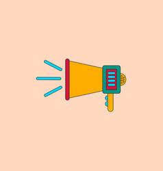 In flat style loudspeaker vector