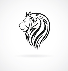 Lion head logo design template concept icon for vector
