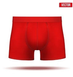Male red underpants brief isolated on background vector