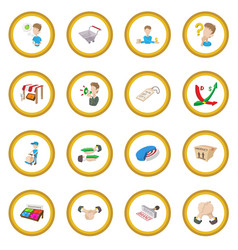 Marketing icon circle vector