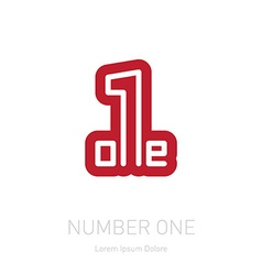 Number one sign Corporate logo design template vector image vector image