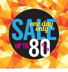 One Day Sale vector image
