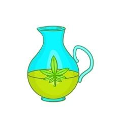 Organic hemp oil icon cartoon style vector image