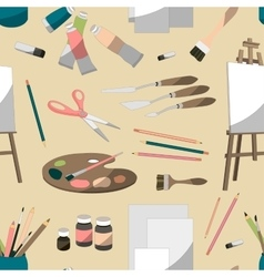 Painter set pattern vector image vector image