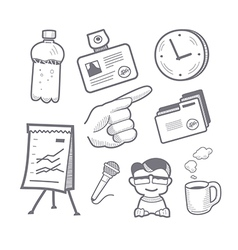 Presentation equipment vector image
