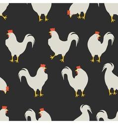 rooster pattern dark grey vector image