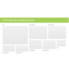 set of international envelope sizes vector image