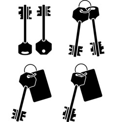 set of keys second variant vector image vector image