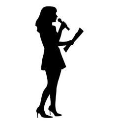 show host anchor reporter or presenter woman vector image
