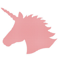 simple unicorn in nordic cross stitch vector image