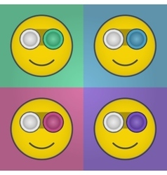 Smile contact lens case vector image