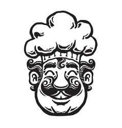 smiling chef cartoon vector image vector image