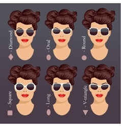 sunglasses shapes 1 vector image