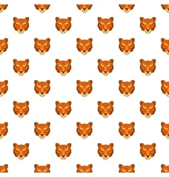 Tiger head pattern cartoon style vector image vector image