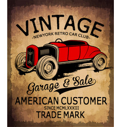 Vintage car tee graphic design vector