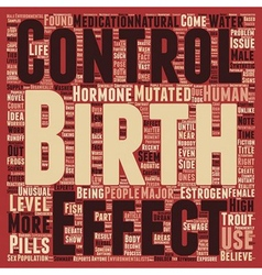 Birth control pills create mutant trout text vector
